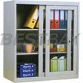 玻璃推拉门式文件柜W900×D380×H1060