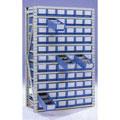 物料盒层板货架W1100×D300×H2200