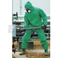 M号绿色PVC带衬化学防护服