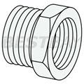 简化的外螺纹对内螺纹转换接头(1/4inch)-1/8inch