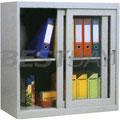 玻璃推拉门式文件柜W900×D380×H740