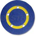 5孔Φ127MM10MM厚软密度砂轮片垫(通道吸尘自粘式)