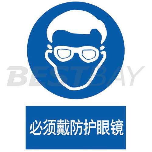 强制类标识(必须戴防护眼镜)