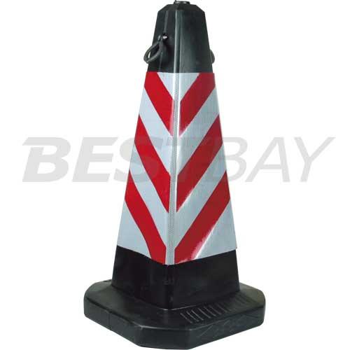 反光路堆-红白色四方塔型路堆